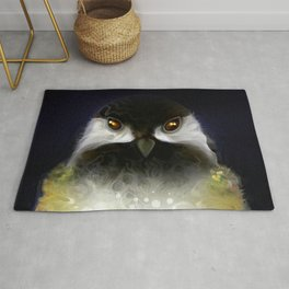 The Black Capped Chickadee Rug