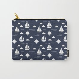Sailboat Bay // Navy Carry-All Pouch