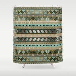 Meander Pattern - Greek Key Ornament #1 Shower Curtain
