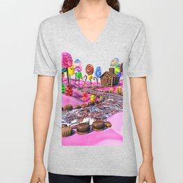Pink Candyland Unisex V-Neck
