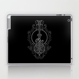 Intricate Gray and Black Electric Guitar Design Laptop & iPad Skin