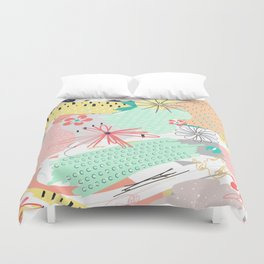 Modern creative abstract floral paint Duvet Cover