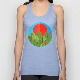 red squirrels at the sunset Unisex Tank Top
