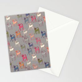 Colorful kitties on Paloma grey Stationery Cards