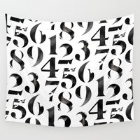 numbers Wall Tapestries featuring Numbers by Sibling & Co.