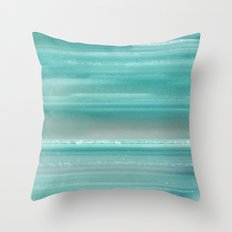 Turquoise Geode Throw Pillow