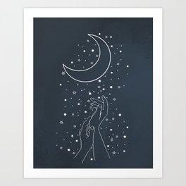 Reaching The Moon Art Print
