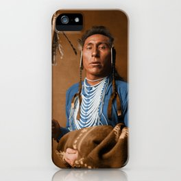 Tries His Knee - Crow American Indian iPhone Case