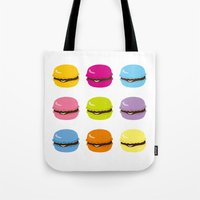 macaron Tote Bags featuring macaron by taichi_k