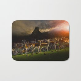 Group of deer Bath Mat