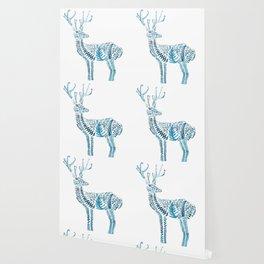 green deer watercolor Wallpaper