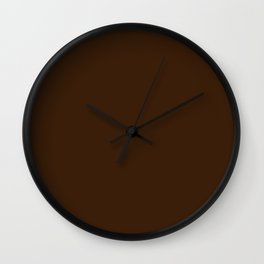 Better Place ~ Brunette Coordinating Solid Wall Clock