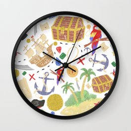 ispy Treasure Island Wall Clock
