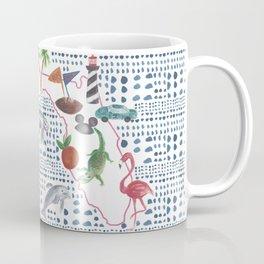 Handpainted Watercolor Map of Florida Coffee Mug
