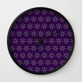 Scissors Star (royal purple) Wall Clock