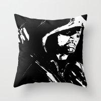 green arrow Throw Pillows featuring Arrow by Seth House