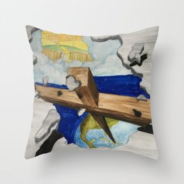 Break Out Throw Pillow