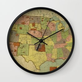 Map of Indian Reservations 1902 Wall Clock