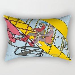 Wilbur and Orville Wright, 1903 Rectangular Pillow