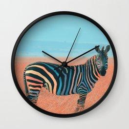 Colorful Zebra Wall Clock