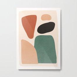 Minimal Abstract Shapes 43 Metal Print