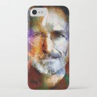 steve jobs iPhone & iPod Cases featuring Steve Jobs by Richard Michaud