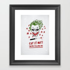 Cut It Out - Humor Framed Art Print
