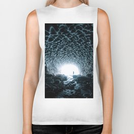 Glacial Ice Cave in the Mountains - Landscape Photography Biker Tank