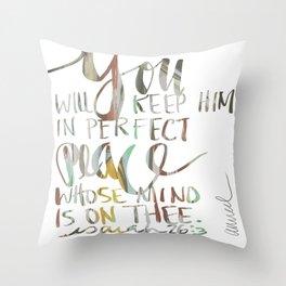 ISAIAH TWENTY SIX VERSE THREE. JUBIL PRINTS Throw Pillow