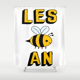 les bee an Shower Curtain