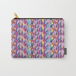 Brushstroke Fortunes I (Abstract Painting) Carry-All Pouch
