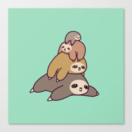 Sloth Stack Canvas Print