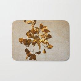 golden flowers Bath Mat