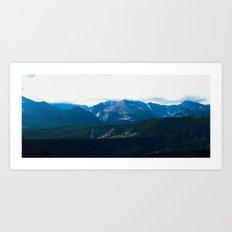 mountain range .  Art Print