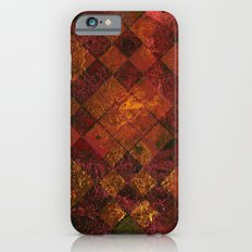 Old Tile - maroon and gold Slim Case iPhone 6
