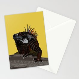 iguana gold Stationery Cards