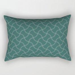 Center Court Green Wimbledon Tennis Ball Repeating Pattern Rectangular Pillow