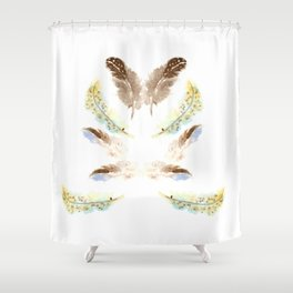 feather feelings Shower Curtain