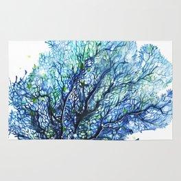 Fan Coral - Aqua Rug