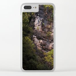 Looking up to the Natural Bridge, VA Clear iPhone Case