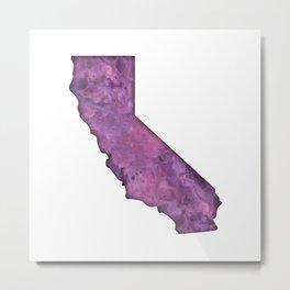 California Watercolor Metal Print