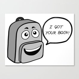 Backpack mate Canvas Print