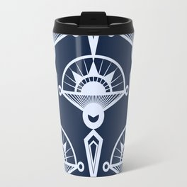 Blue art Deco . Travel Mug