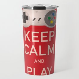 Keep Calm and Play vintage poster Travel Mug