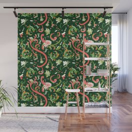Swirly Trendy_Green Wall Mural