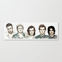 cyrilliart Canvas Prints featuring Watercolour 5 by Cyrilliart