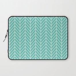 Turquoise Herringbone Pattern Laptop Sleeve