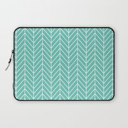Turquoise Herringbone Pattern Laptop Sleeve