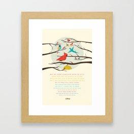 Little Birds Framed Art Print