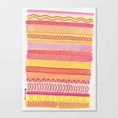 Tribal#1 (Orange/Pink/Yellow) Canvas Print